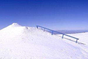 Sector 3 barandilla azul (Estructura del snowpark)