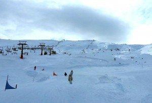 Preparación del Skicross en Sierra Nevada (El Sulayr abre su half-pipe)