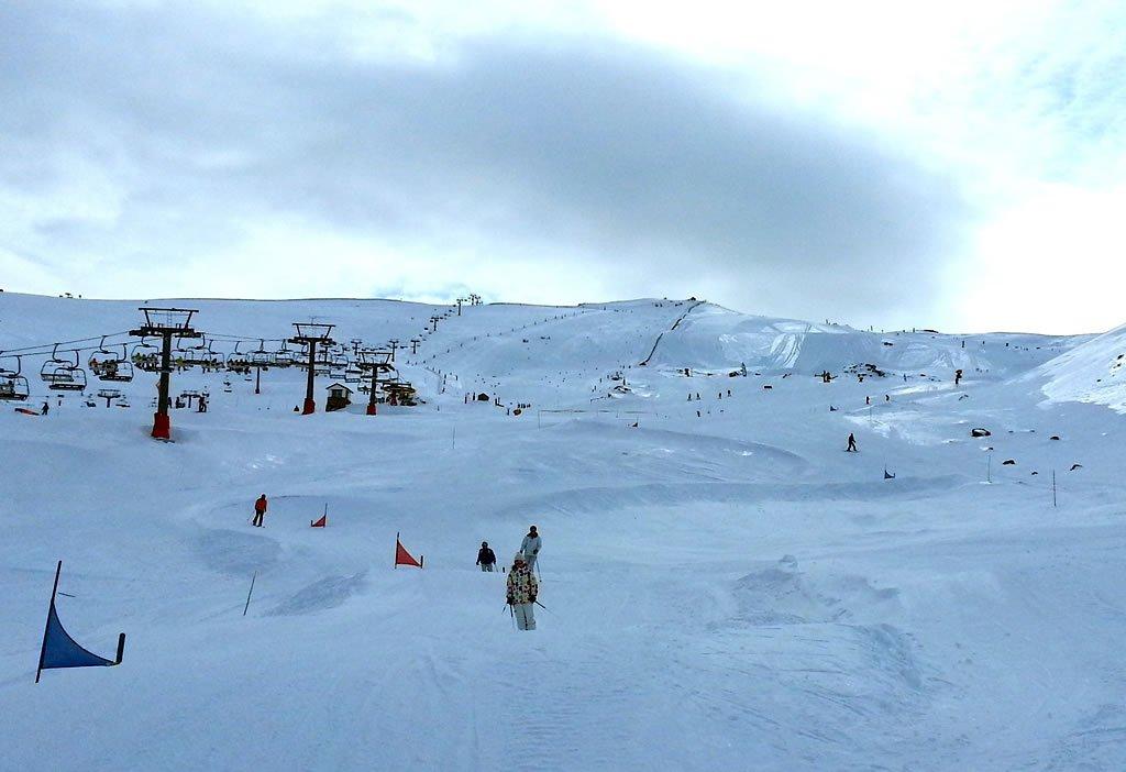 Preparación del Skicross en Sierra Nevada