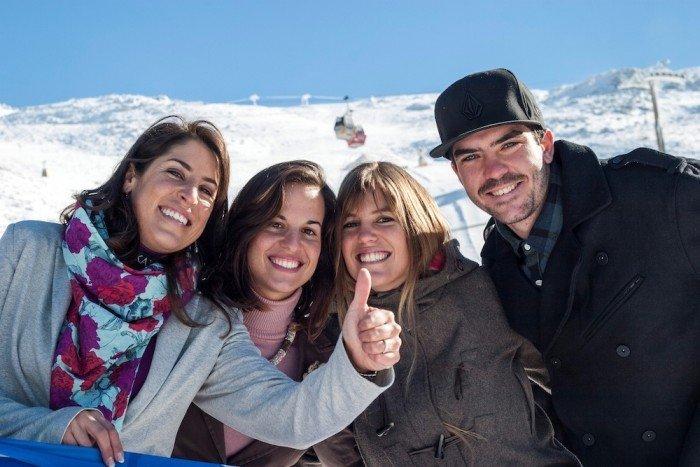 Regino, con las 'olímpicas' de Sierra Nevada